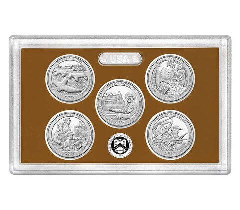 America the Beautiful Quarters 2017 Proof Set,  image 1