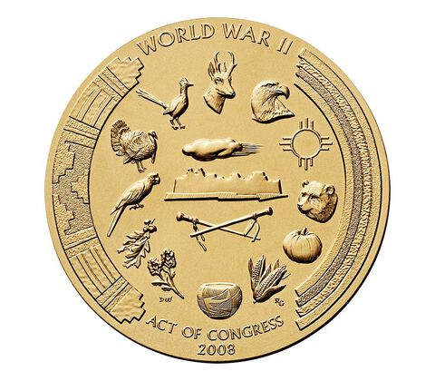 Pueblo of Acoma Tribe Code Talkers Bronze Medal 3 Inch,  image 2