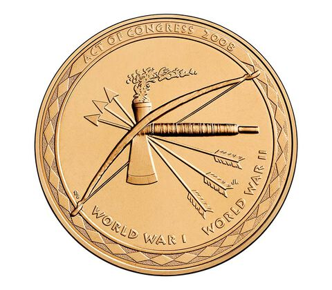 Choctaw Nation Tribe Code Talkers Bronze Medal 1.5 Inch,  image 2