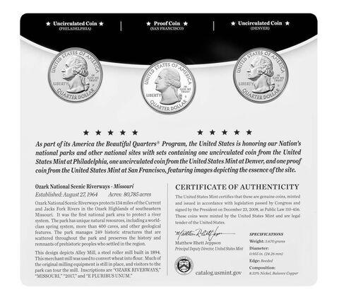 America the Beautiful Quarters 3-Coin Set Enrollment,  image 2