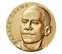 Barack Obama (First Term) Bronze Medal 3 Inch