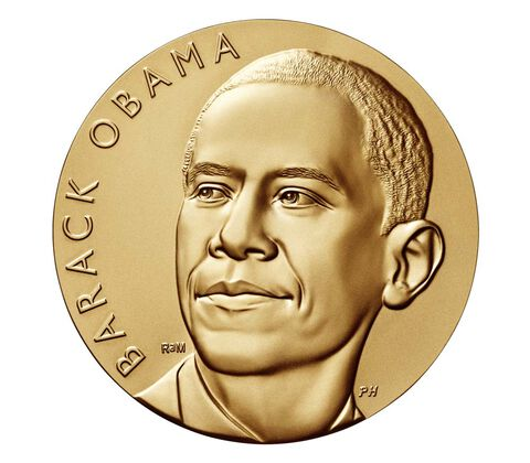 Barack Obama (First Term) Bronze Medal 3 Inch