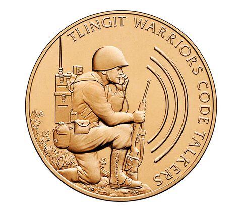 Tlingit Tribe Code Talkers Bronze Medal 1.5 Inch