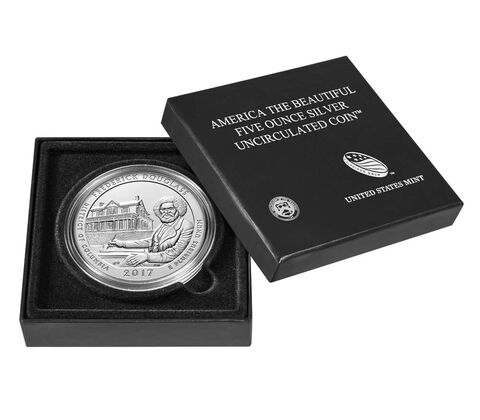 Frederick Douglass National Historic Site 2017 Uncirculated Five Ounce Silver Coin,  image 4