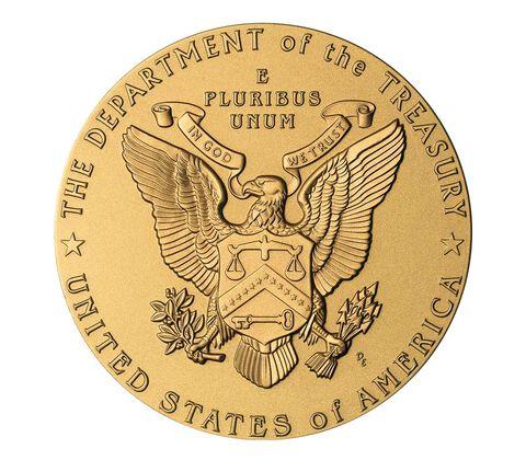 John W. Snow, Secretary of the Treasury Bronze Medal 3 Inch,  image 2