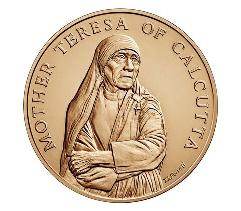 Mother Teresa of Calcutta Bronze Medal 1.5 Inch