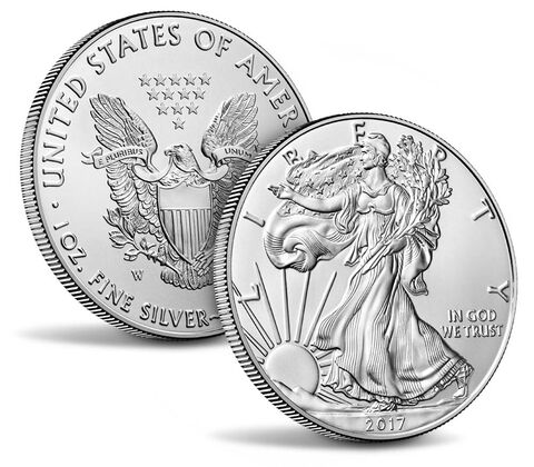 American Eagle 2017 One Ounce Silver Uncirculated Coin,  image 3