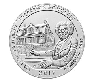 Frederick Douglass National Historic Site 2017 Uncirculated Five Ounce Silver Coin