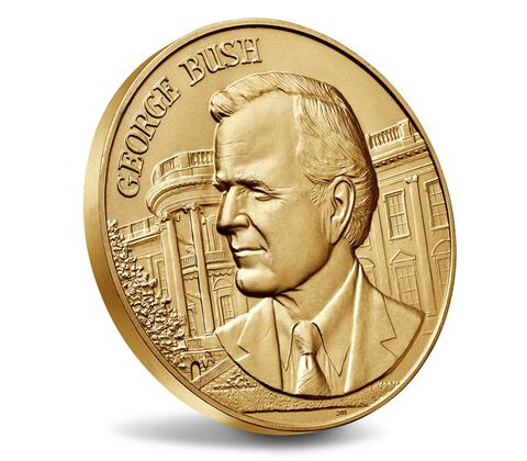 George Bush Bronze Medal 3 Inch,  image 3