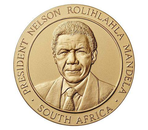 Nelson Mandela Bronze Medal 3 Inch