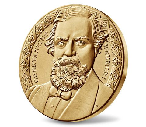 Constantino Brumidi Bronze Medal 3 Inch,  image 3