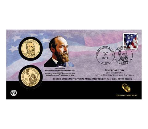 James Garfield 2011 One Dollar Coin Cover