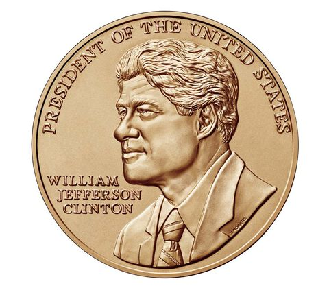 William J. Clinton (First Term) Bronze Medal 1 5/16 Inch