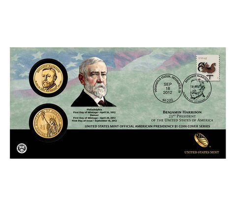 Benjamin Harrison 2012 One Dollar Coin Cover