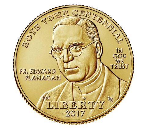Boys Town Centennial 2017 Uncirculated $5 Gold Coin