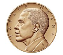 Barack Obama (Second Term) Bronze Medal 1 5/16 Inch