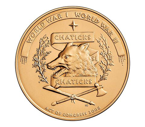 Pawnee Nation Tribe Code Talkers Bronze Medal 1.5 Inch,  image 2