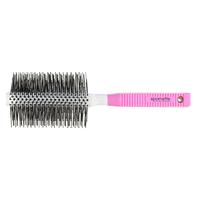 Pink and White Soft Nylon Round Brush XL - 2.5 Inch