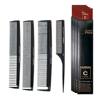 Carbon Comb Styling Pack - 4 count display