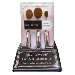Full Face Contour Oval Brush Set - 4 count display