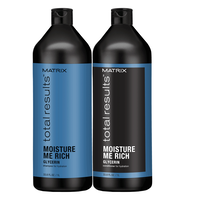 Total Results Moisture Me Rich S/Poo & Conditioner Liter Duo