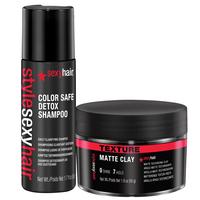 Style Sexy Matte Clay w/ Detox Shampoo