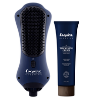 Esquire Grooming Hand Brush Dryer with Thickening Cream