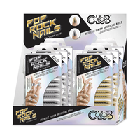 Color Club POP Rock Artificial Nail Kit Silver & Gold - 8 ct
