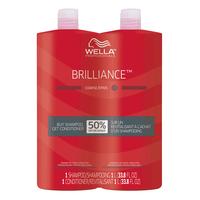 Brilliance Shampoo & Conditioner Liter Duo for Coarse Hair
