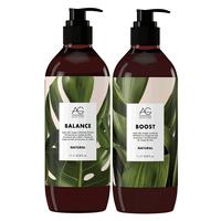 Natural Shampoo & Conditioner Liter Duo