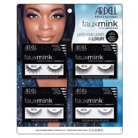 Faux Mink Eyelashes - 16 Piece Display