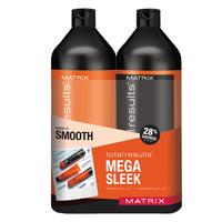 Total Results Mega Sleek Shampoo & Conditioner Liter Duo