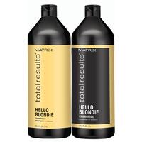 Total Results Hello Blondie Shampoo & Conditioner Liter Duo