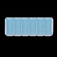 Classic Self-Grip Rollers - 1 1/8 Inch Aqua 6–Count