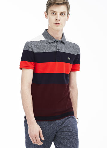 Men's Bold Stripe Piqué Polo Shirt