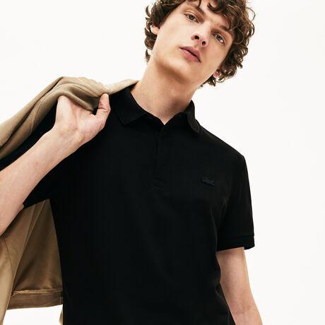 [BEST] 라코스테 파리 폴로 - 블랙 (레귤러 핏) 남성 반팔 피케 셔츠 Lacoste Mens Paris Edition Regular Fit Stretch Pique Polo,black