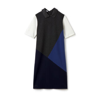 Women's Half Sleeve Color Block Piqué Polo Dress
