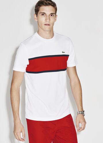 Men's SPORT Run-Resistant Colorblock Tennis Polo
