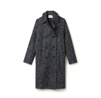 Women's Tweed Double Breasted Coat