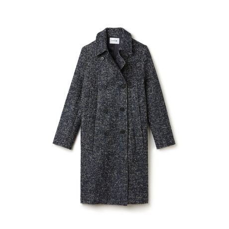 Women's Tweed Double Breasted Coat