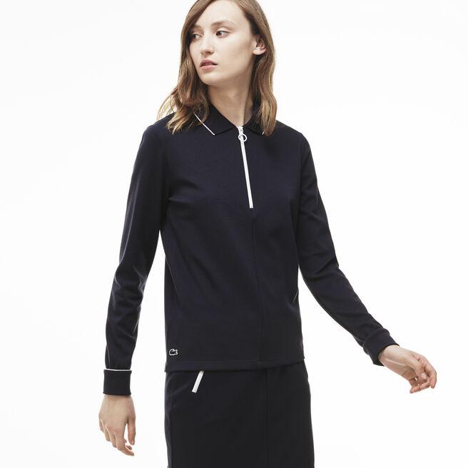 Women's Contrast Tipped Interlock Polo Shirt
