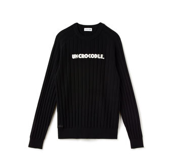 Men's Fashion Show Un Crocodile Crewneck Wool Sweater
