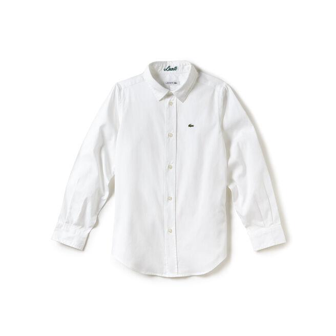 Boy's Oxford Cotton Knit Shirt