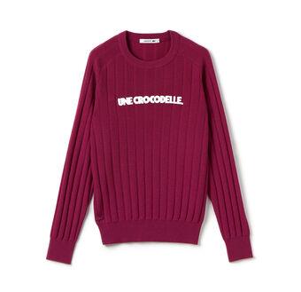 Women's Fashion Show Crewneck Une Crocodelle Sweater