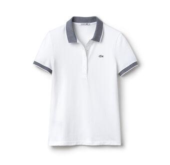 Women's Contrast Collar Polo Shirt