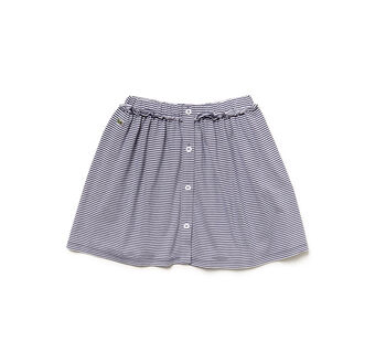 GIRL'S STRIPED FRONT BUTTON SKIRT