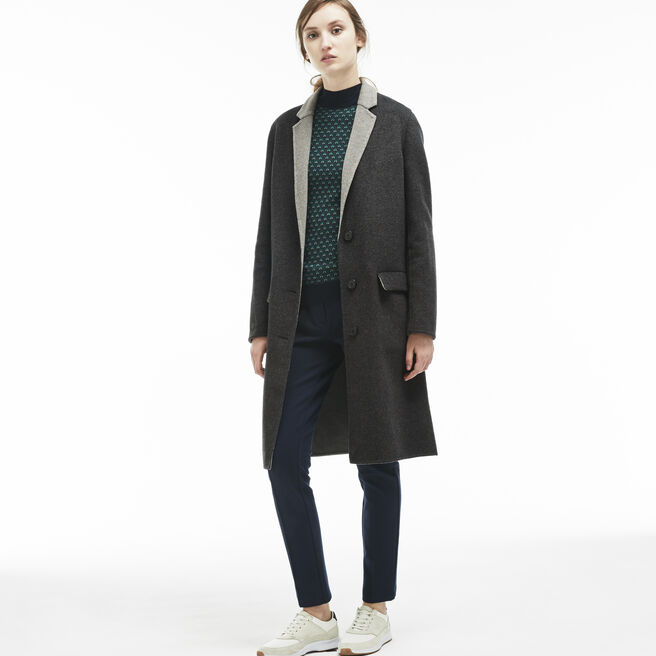 Women's Classic Wool Long Coat | LACOSTE
