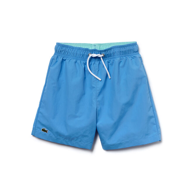 Boy's Taffeta Print Swim Trunks