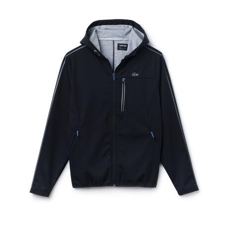 lacoste sport tennis hooded jacket with printed midlayer. Black Bedroom Furniture Sets. Home Design Ideas