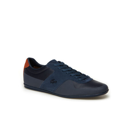 Men's Turnier Low-Rise Leather And Suede Sneakers